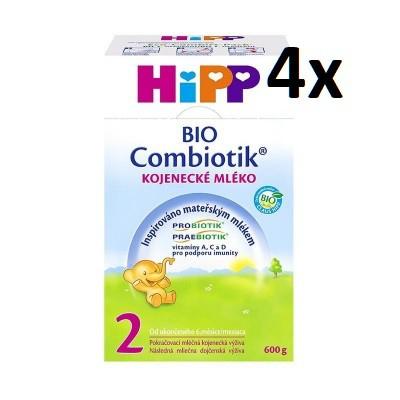 HiPP MLÉKO 2 BIO Combiotik 4 x 600 g