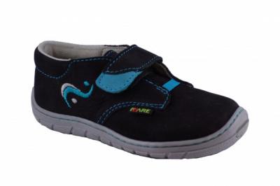 Fare bare 5112212 čierna celoročná obuv barefoot č.23
