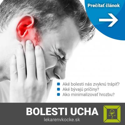Bolestí uší