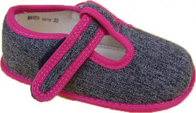 Protetika dievčenské papučky RAVEN black veľkosť č.22