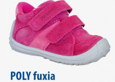 Protetika Dievčenská Celoročná Obuv POLY Fuxia Ružová, Veľkosť Č.25