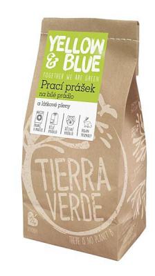 YELLOW & BLUE Prací prášok z mydlových orechov na bielu bielizeň a látkové plienky