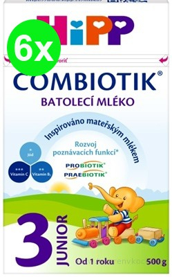 HiPP 3 JUNIOR Combiotik 6x500 g