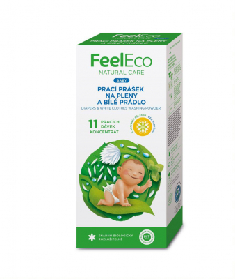 FEEL ECO BABY PRACÍ PRÁŠOK NA PLIENKY A BIELU BIELIZEŇ, 660G, 11PD