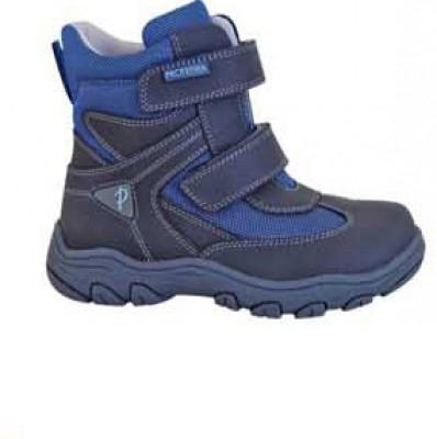 Protetika Chlapčenské zimné topánky HASKO - šedo-modré č.28