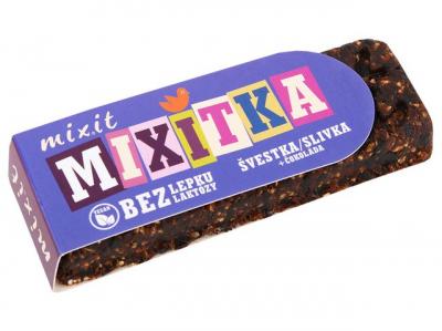 Mixit BEZ LEPKU - Slivka + čokoláda 50g