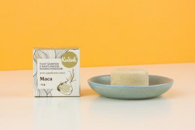 Kvitok Maca tuhý šampón proti vypadávániu vlasov 25g