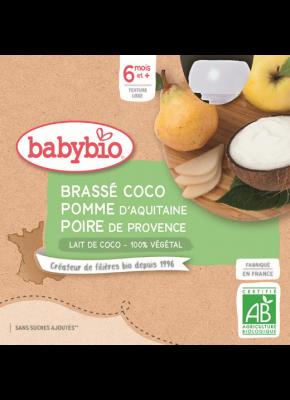 Desiata s kokosovým mliekom - JABLKO A HRUŠKA 4 X 85 G babybio