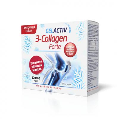 GELACTIV 3-Collagen Forte Darčeková edícia cps (limitovaná edícia) 120+60 zadarmo (180 ks), 1x1 set